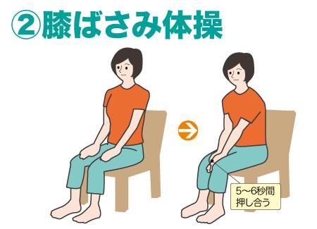 膝ばさみ体操