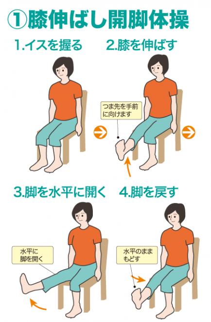 膝伸ばし開脚体操