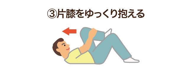 3.片膝をゆっくり抱える